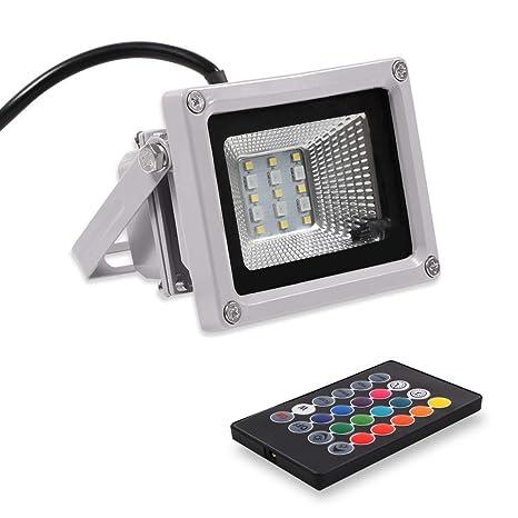 Blinngo Proyector LED para Exterior, RVA, 10 W, IP65, toma UE ...