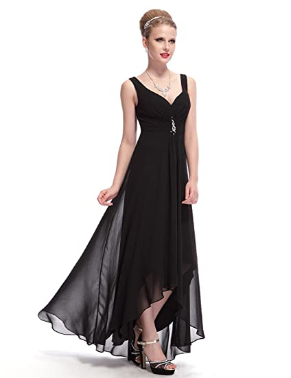 ff29abab67fc Ever Pretty Womens Double V-Neck Rhinestones Ruched Bust High Low Evening  Dress 09983: Amazon.co.uk: Clothing