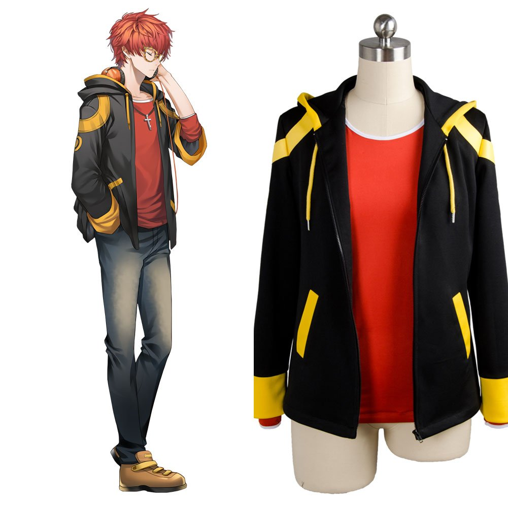 0220df665c9 jeylu Mystic Messenger 707 EXTREME Saeyoung Luciel Choi 7 Outfit Cosplay  Costume: Amazon.co.uk: Clothing