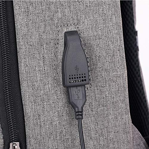 2 Estudiante De Hombres De Gran Mochila Portátil Capacidad Carga Negocios Y con Auriculares De Agujero De Inteligente Mochila Puerto Zhrqinss Viaje USB Multi Función Impermeable wqBSpXx