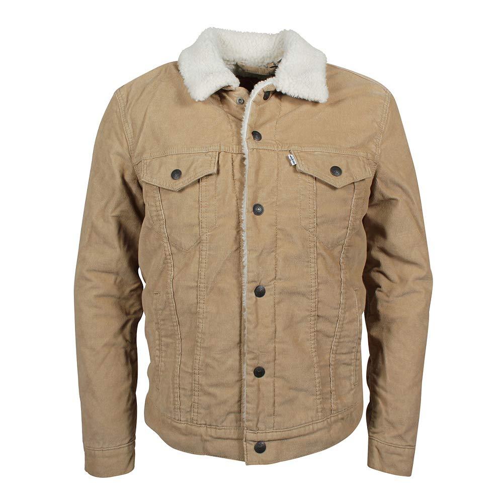 Levi's Men's Type 3 Sherpa Trucker Jacket, Beige Levi' s