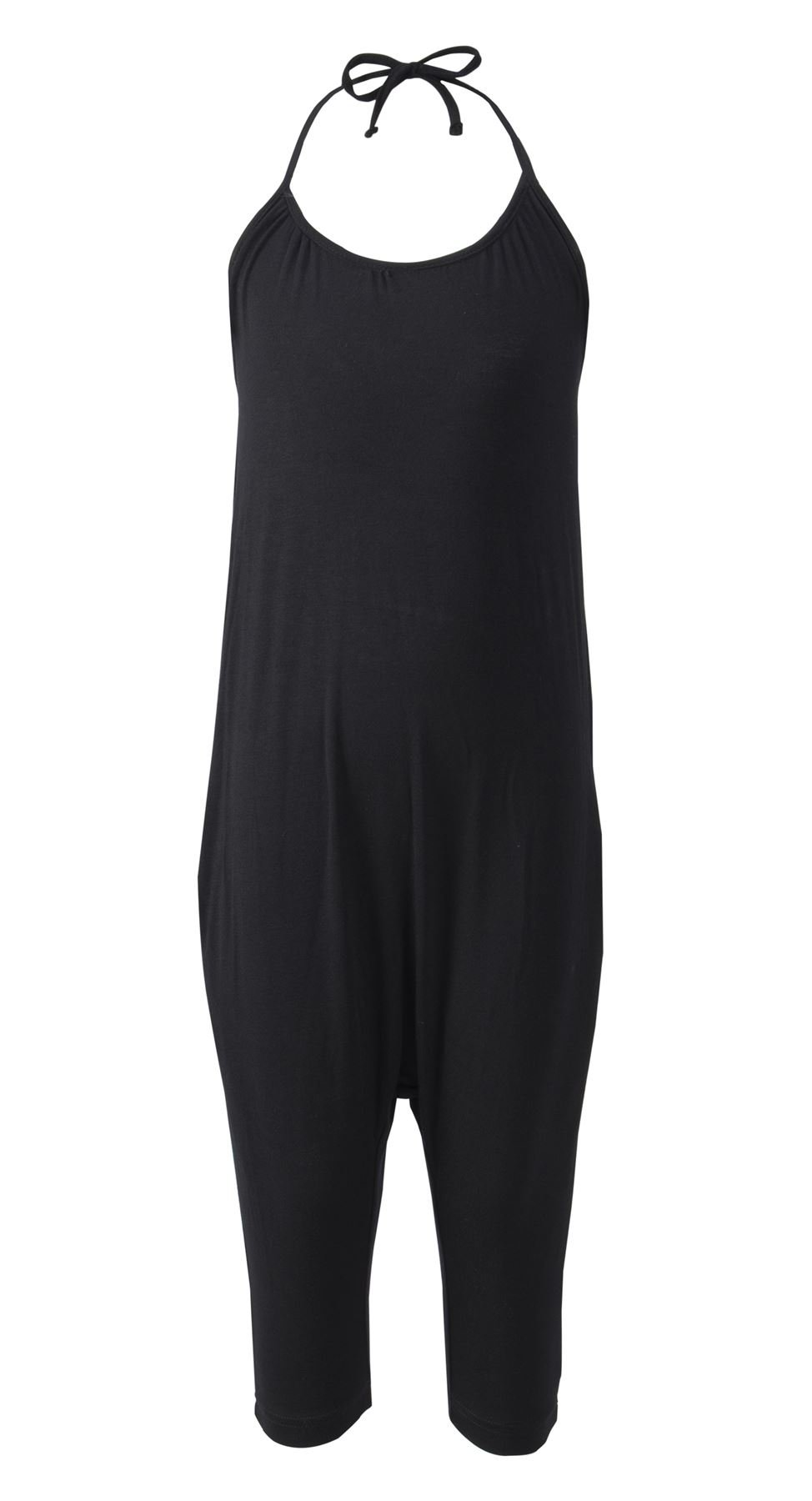 Lofbaz Girls Baby Rayon Straps Black Harem Pants Jumpsuits Rompers Solid Black 3/4Y