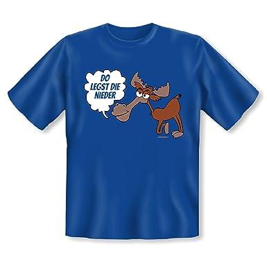 Do Legst Die Nieder Sprüche T Shirt Mit Bayerischen Spruch Und Elch