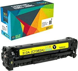 Do it Wiser Remanufactured Toner Cartridge Replacement for HP 312A CF382A for use in HP Color Laserjet Pro MFP M476 M476dn M476dw M476nw (Yellow)