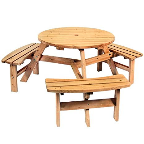 Outstanding Amazon Com Sts Supplies Camp Picnic Table Patio Wood Round Andrewgaddart Wooden Chair Designs For Living Room Andrewgaddartcom
