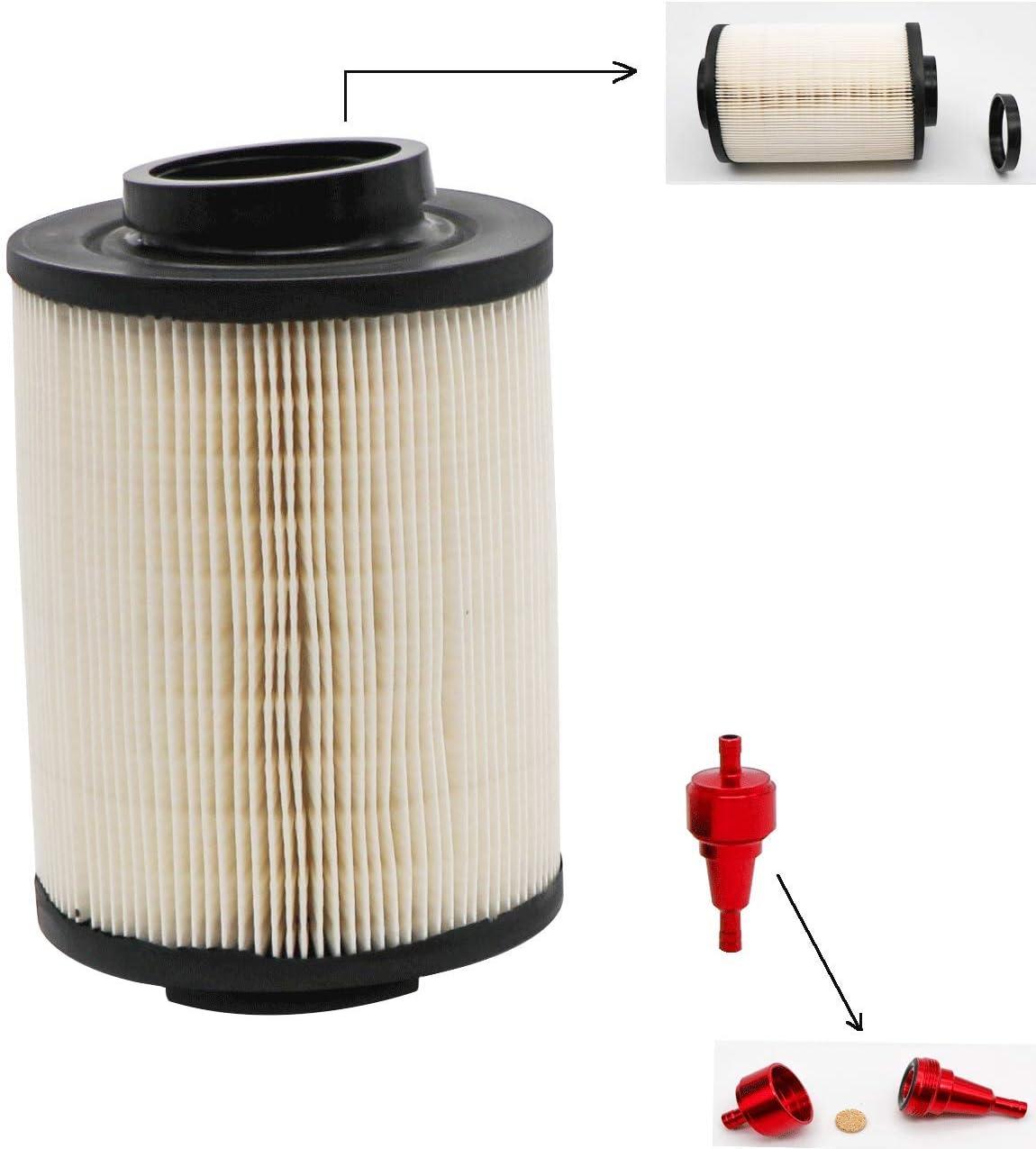 Red CNC Air Filter KIPA Air Filter For Polaris RZR 800 4X4 6X6 UTV 2008-2014 Crew /& XP 800 2009-2016 Replace OEM 1240482