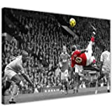 """FAMOUS MANCHESTER UNITED WAYNE ROONEY BICYCLE KICK FRAMED PICTURES CANVAS WALL ART PRINTS FOOTBALL POSTER SIZE: 30"""" X 20"""" (76CM X 50CM)"""