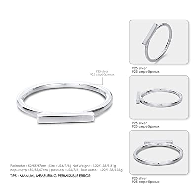 Amazon com: Amoilys Rings for Women Two Colors Sterling Silver