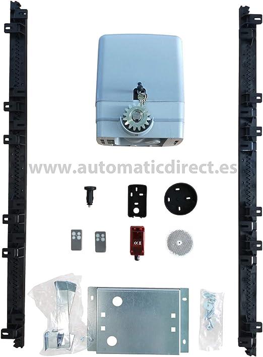 Kit motor puerta corredera de 600 kg + cuadro de maniobra SD + 2 mandos + 1 mando para el mechero del coche + 1 fotocélula de espejo + 4m. de cremallera de nylon: Amazon.es: Bricolaje y herramientas
