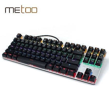 0d57a21a783 China, black 87key backlit : Metoo Zero Gaming wired Mechanical Keyboard 104 /87 Keys