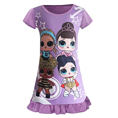 WNQY Surprise Princess Pajamas Little Girls Nightgown Dress for Doll Surprised: Clothing