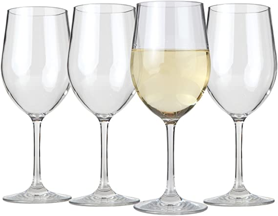 Lily's Home Unbreakable Chardonnay Wine Glasses