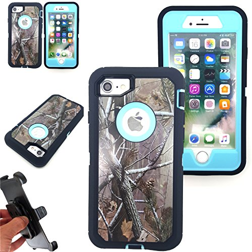 For-iPhone-7-Plus-55-Case-Kecko-Heavy-Duty-High-Impact-Scratch-Resistant-Full-Body-Protective-Defender-Camo-Hard-Case-Cover-with-Belt-Clip-Holster-and-Built-in-Screen-Protector