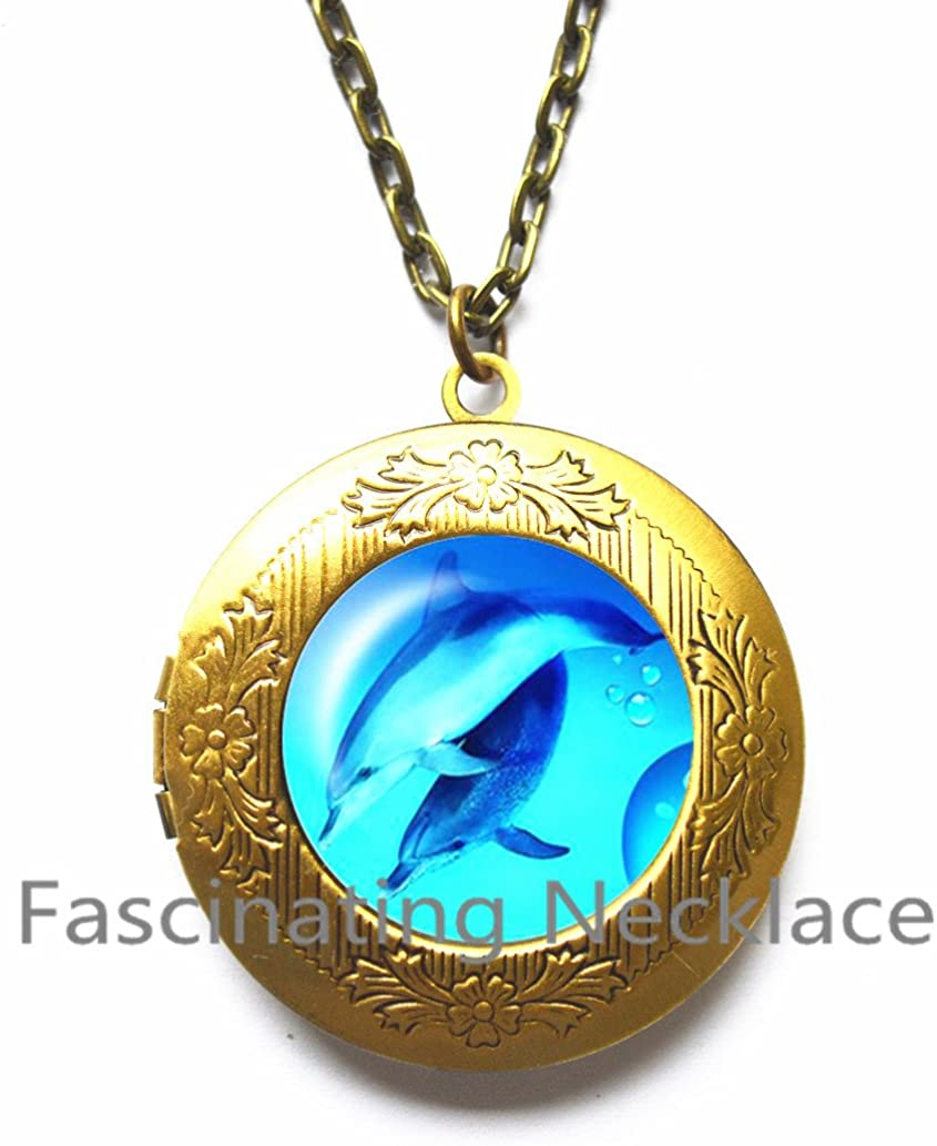 Ocean jewelry Christmas gift dolphin jewelry Little sister gift Fish necklace Dolphin necklace gift for friend fish gift Kids jewelry