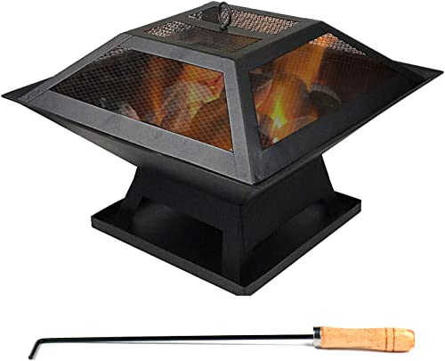 CEVENT Outdoor Fire Pits,Fire Pits Outdoor Wood Burning BBQ Grill Firepit Bowl