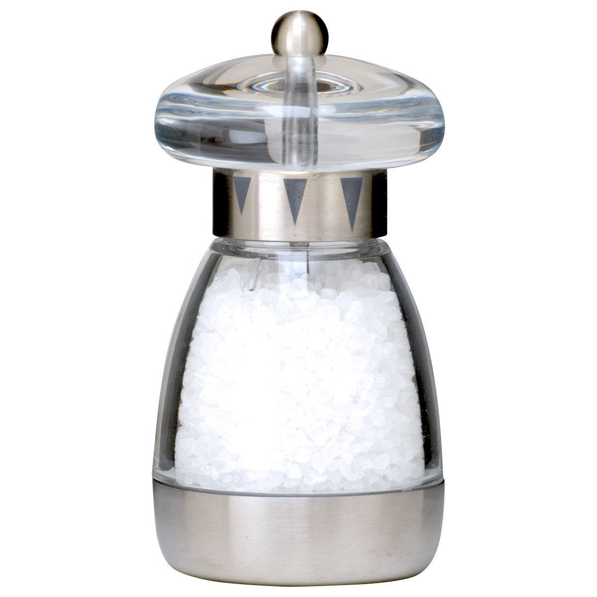 William Bounds 5.75-inch Mushroom Satin Salt Mill 04120