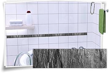 Fliesenaufkleber Fliesenbordüre Bordüre Fliesen Granit Mramor Stein ...