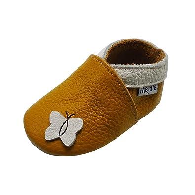 4acb482fa7780 Mejale Chaussons Cuir Souple Chaussures Cuir Souple Chaussons Enfants  Pantoufles Chaussures Premiers Pas Dessin animé Papillon