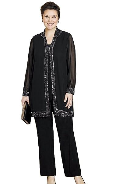Amazon.com: kelaixiang Womens Formal Elegante Pantalón Suit ...