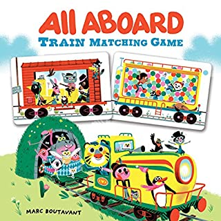 All Aboard Train Matching Game (Memory Matching Games for Adults and Toddlers, Matching Games for Kids, Preschool Memory Games)