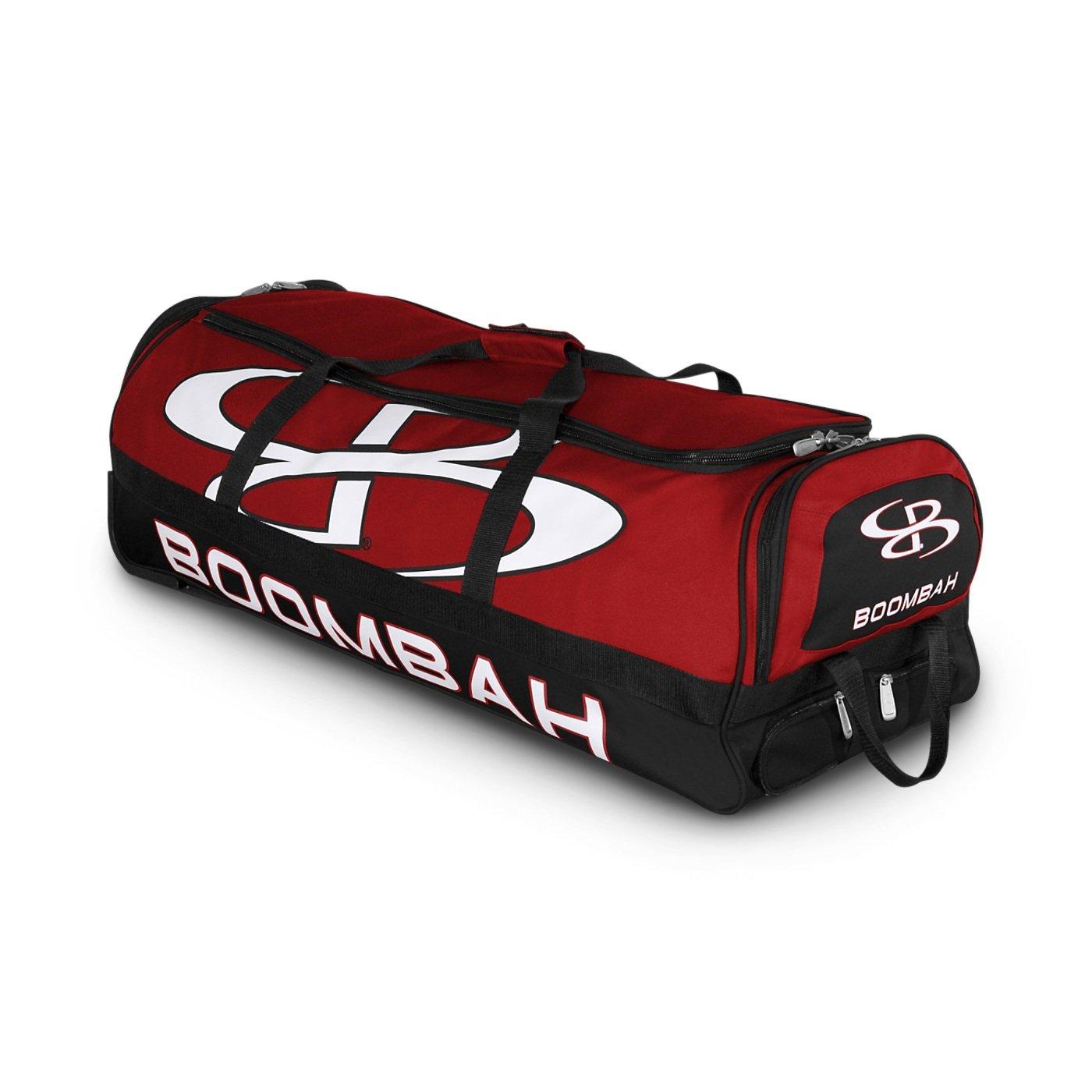 (ブームバー) Boombah Bruteシリーズ キャスター付きバットケース 野球ソフトボール用 35×15×12–1/2インチ 49色展開 4本のバットと用具を収納可能 B01MXRXJZN レッド/ブラック レッド/ブラック