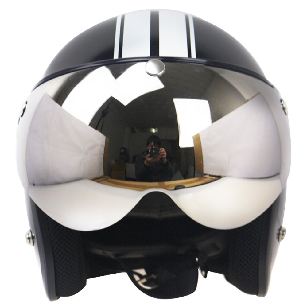 Walmeck Universal 3-Snap Motorrad Helmvisiere Motorradhelm Visier Windschutzscheibe f/ür Motorrad Helm Sonnenbrille Windproof