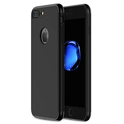 iphone 7 plus jet black case. iphone 7 plus case ranvoo stylish thin hard with 3 detachable parts for apple iphone jet black