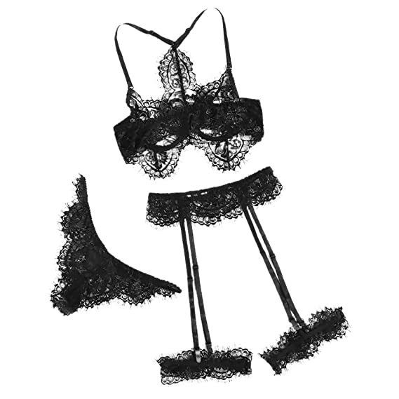 Luckycat Lencería Sexy Mujer Conjunto de Dos Piezas Erotica Conjuntos De Lencería Mujer Encaje Atractivo Monos Ropa De Dormir Vestido Interior Cordón Ropa ...