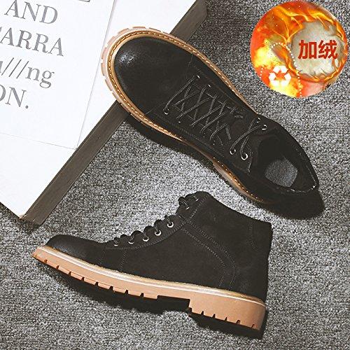Hommes Chaussures Outillage cachemire faible Martin hautes PYL coton HL chaussures Bottes bottes bottes noir à 41 et ZtUnqgcW
