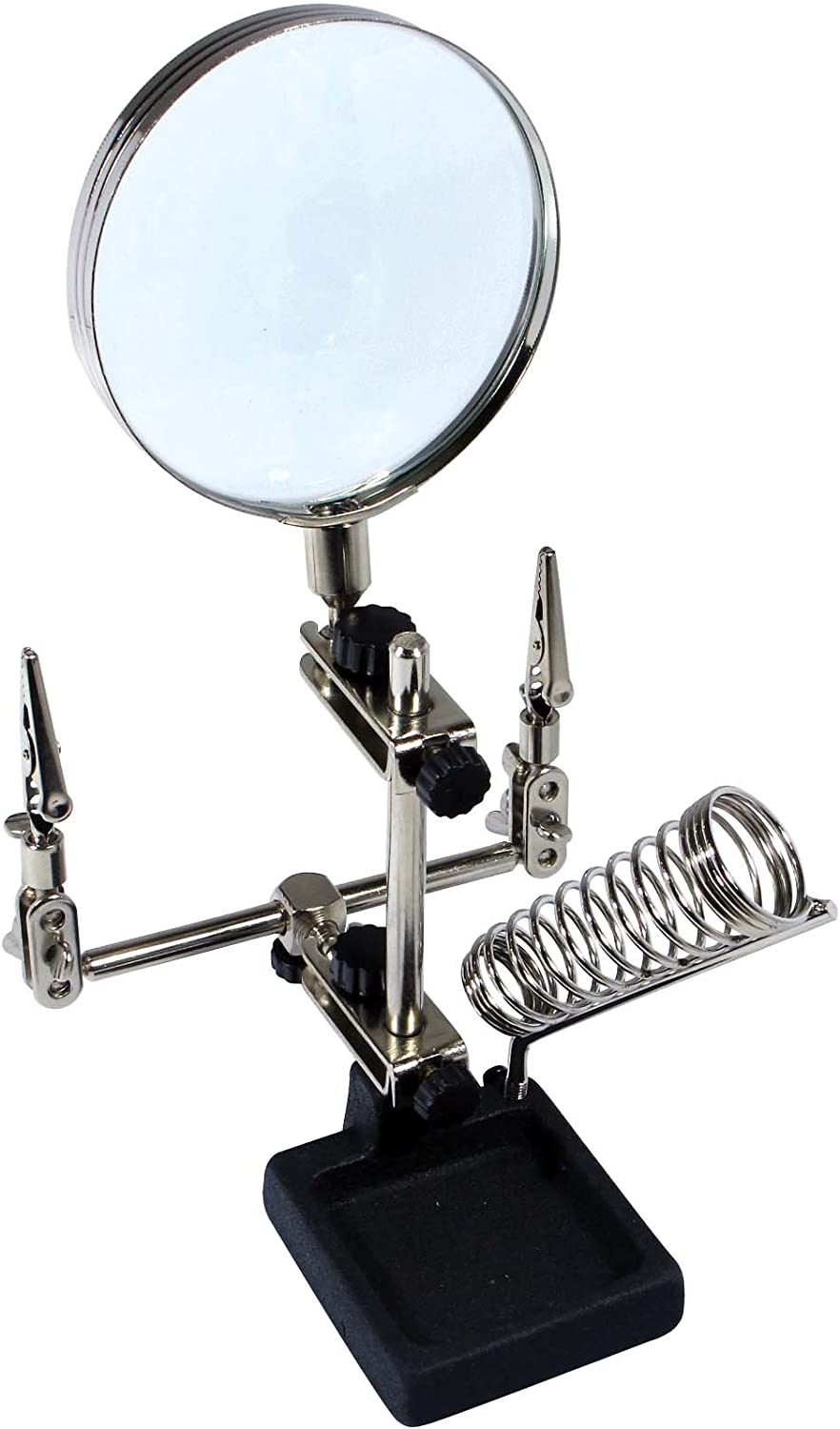2xMagnifier LED Light Helping Hand with Soldering Stand