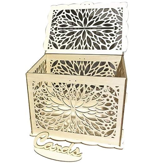 CUHAWUDBA Bricolaje Caja de Tarjeta de Regalo de Boda Nudo de ...