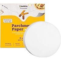 Katbite Parchment Paper Rounds - 200, 8 Inch, 6''9''10''12'' Parchment Rounds for Cake Baking, Air Fryer