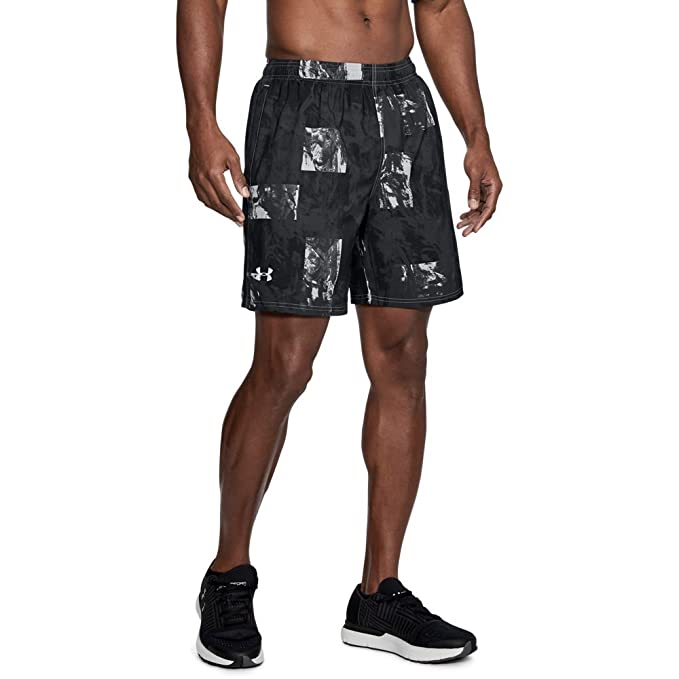 NWT Under Armour Men/'s Launch sw Printed 7/'/' Shorts