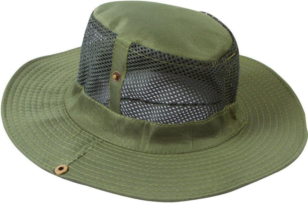 Lanly Fishing Hat Unisex Men Women Safari Hat 100/% Cotton Foldable Adjustable Hiking Hat Garden Sun Hat Outdoor Bush Hat