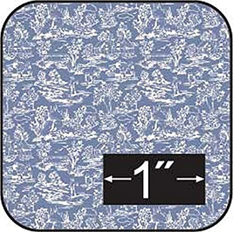 Dollhouse Miniature 1:24 Scale Blue Bows Wallpaper
