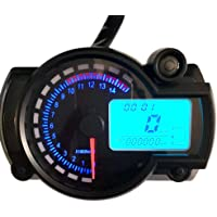 KKmoon Velocímetro Moto,LCD Digital Tacómetro Indicador Odómetro 7