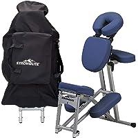 STRONGLITE Portable Massage Chair Ergo Pro II - Ultra-Strong, Lightweight, Folding Tattoo Spa Massage Chair with Wheels…