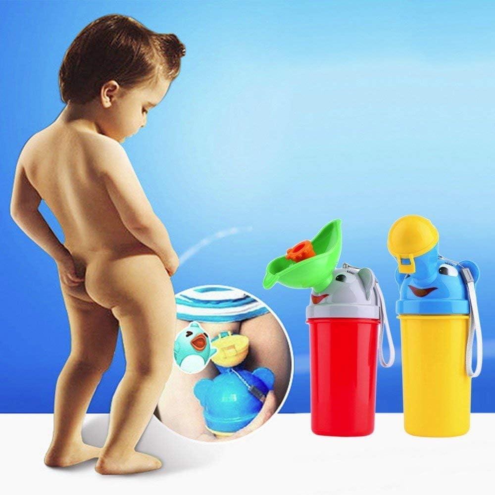 Junge tragbares PIPI Pissoir Flaschen Toiletten Notaufnahme Toilette f/ür Reise Fahren im Freien Kid Potty Pee Training Camping Alxcio Kinder T/öpfche Baby Pee Pissoir