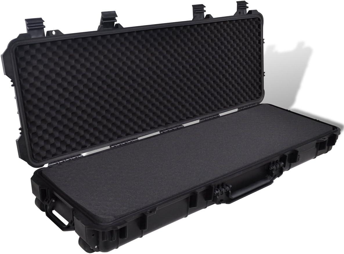 vidaXL Caja para Pistola Plástico Moldeado Impermeable Maletín de Transporte