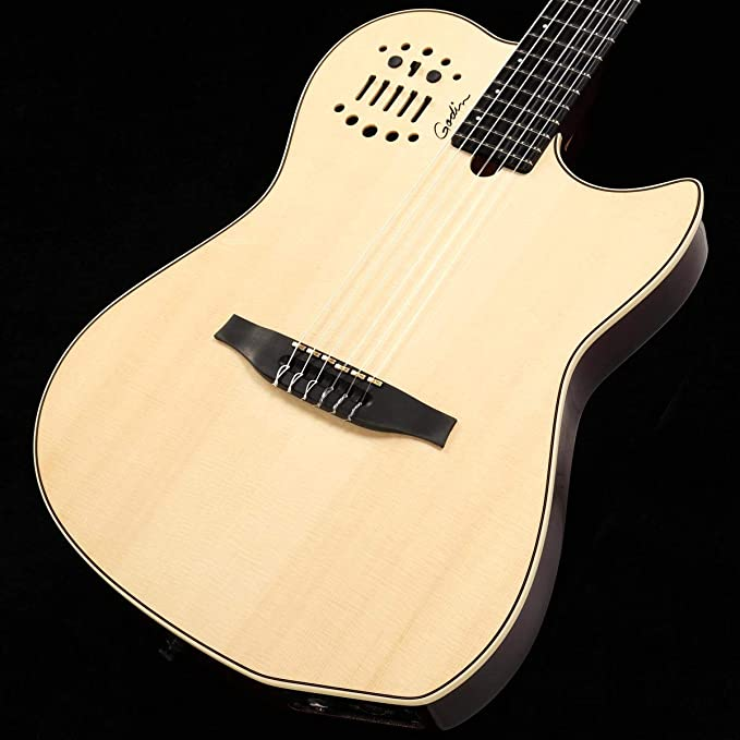 Used Godin Acs Sa Nylon String Solid Cedar Top Acoustic Electric Guitar Natural Musical Instruments Amazon Com