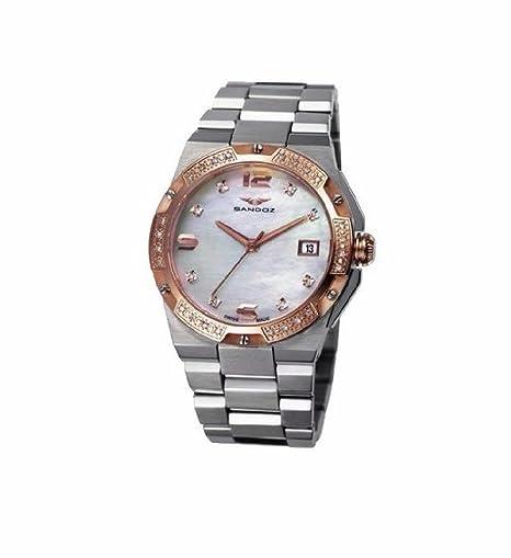 Sandoz 81266-90 Reloj Mujer Tamaño 34 mm Cuarzo Suizo Acero Brazalete: Amazon.es: Relojes