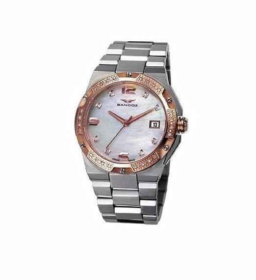 Sandoz 81266-90 Reloj Mujer Tamaño 34 mm Cuarzo Suizo Acero Brazalete