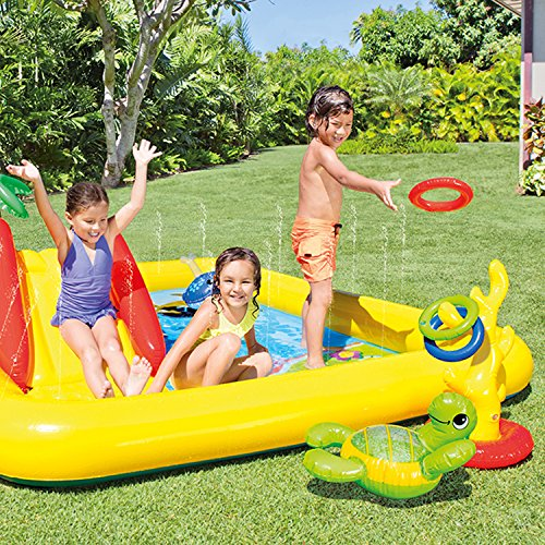Intex Ocean Play Center Kids Inflatable Wading Pool + Quick Fill Air Pump by Intex (Image #3)