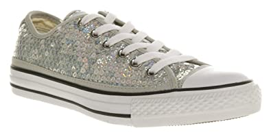 895ecb1ce1dc Converse All Star Ox Low Silver Sequins - 6 Uk  Amazon.co.uk  Shoes ...