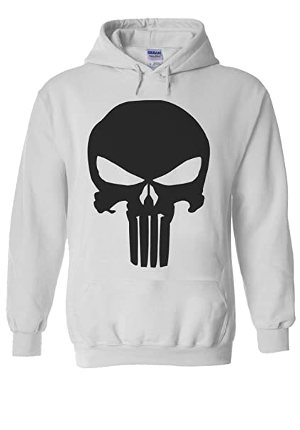 Punshier Marvel Comics Punisher Mens Top GIFT Hooded Dress TEE Top Body Building