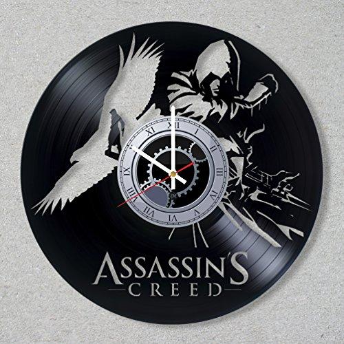 Vinyl Record Wall Clock Assassin's Creed Ezio Game Film decor gift ideas for friends him her boys girls World Art Design -