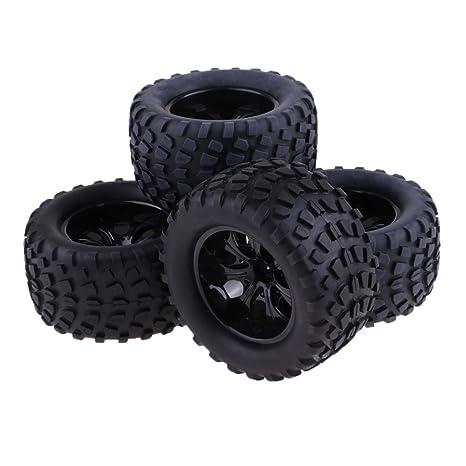 Homyl 4 Piezas 103mm RC Neumáticos Ruedas de Goma para HSP Redcat Traxxas HPI RC4WD Axial