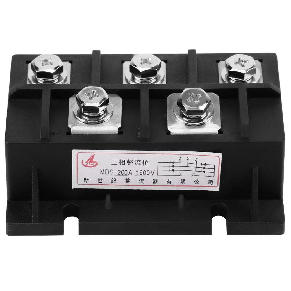 MDS-200A Amp 1600V Three-Phase Diode Module Bridge Rectifier Power Module Provide for Single Phase Rectification by TOPINCN
