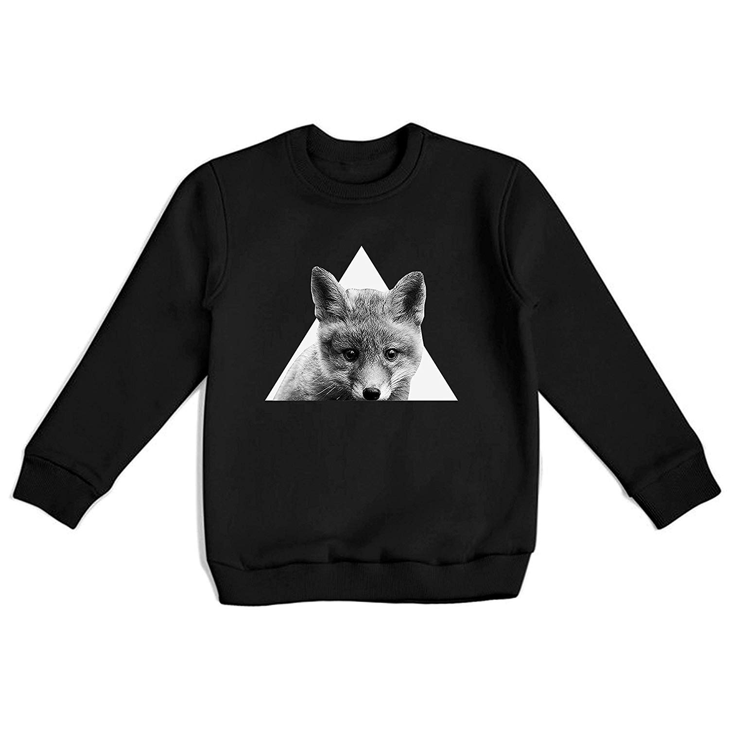 Little Fox Sweatshirt Unisex Top Cute Animals Design Teen Clothing Long Sleeve Girl for Adults Idea Shirt