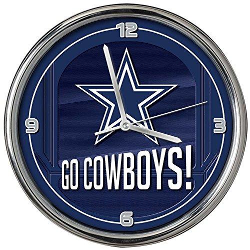 (The Memory Company Dallas Cowboys Go Team Chrome Clock)